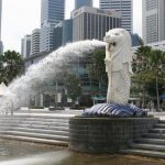 singapore lion fountain