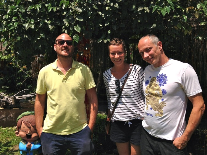 YogaTrail founders Sven, Alex & Alex