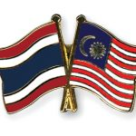 thailand and malaysia flags pin